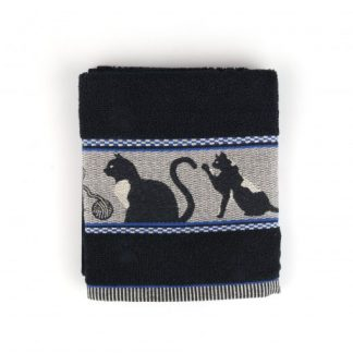 Bunzlau Handdoek Cats Black